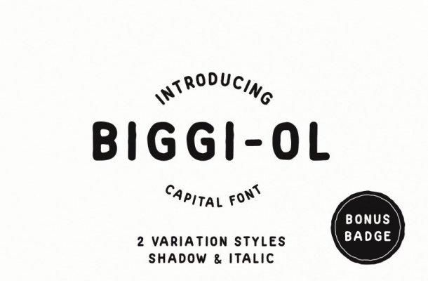 Biggi Ol – Capital Font