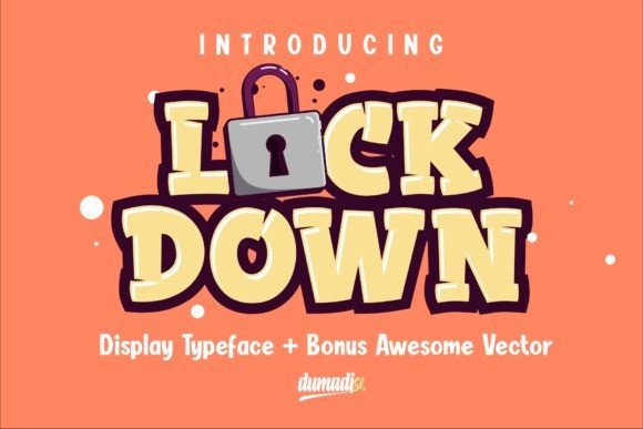 Lockdown Display Font