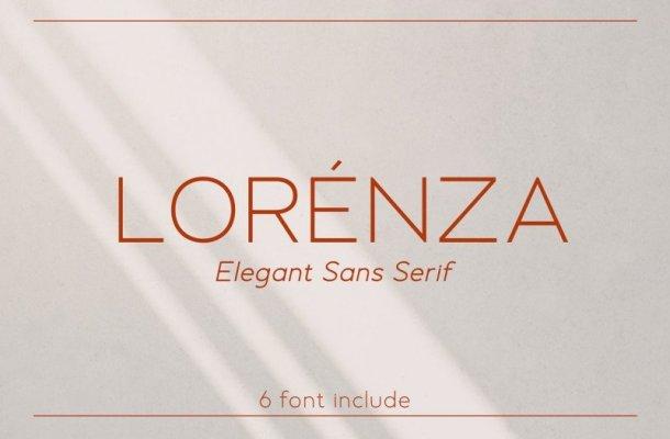 Lorenza Elegant Sans Font