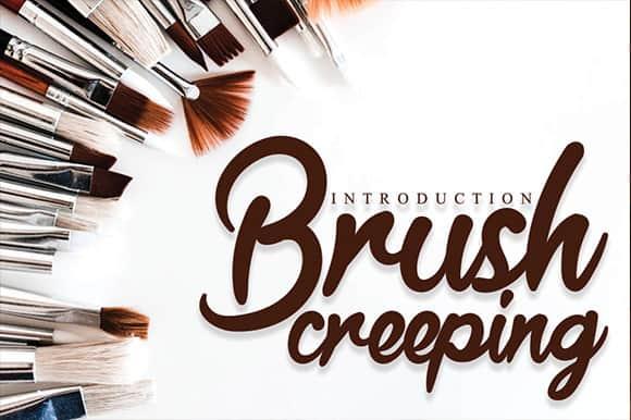 Brush Creeping Script Font