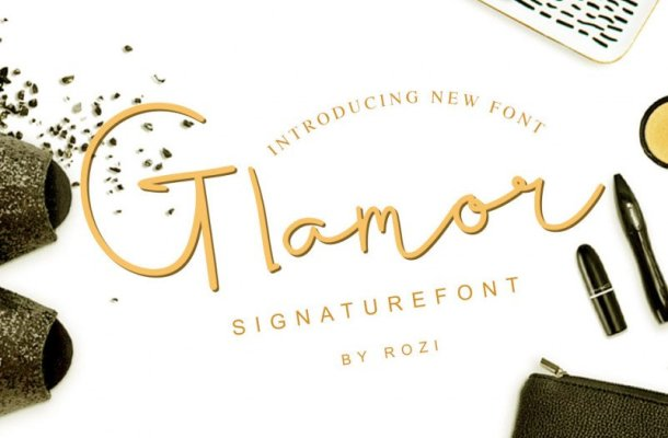 Glamour Signature Font