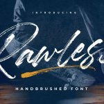 Rawless Natural Handbrushed Font