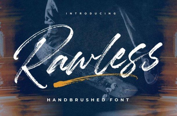 Rawless Natural Handbrushed Font