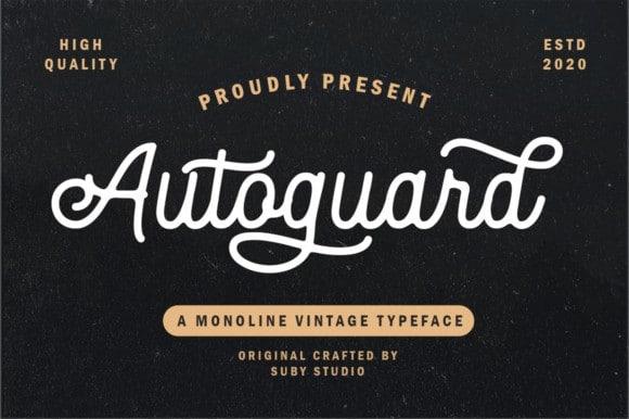 Autoguard Monoline Vintage Font