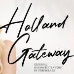 Holland Gateway Handwritten Font