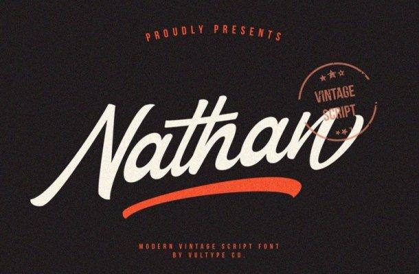 Nathan Vintage Script Font