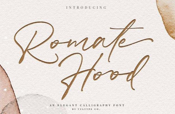Romate Hood Script Font