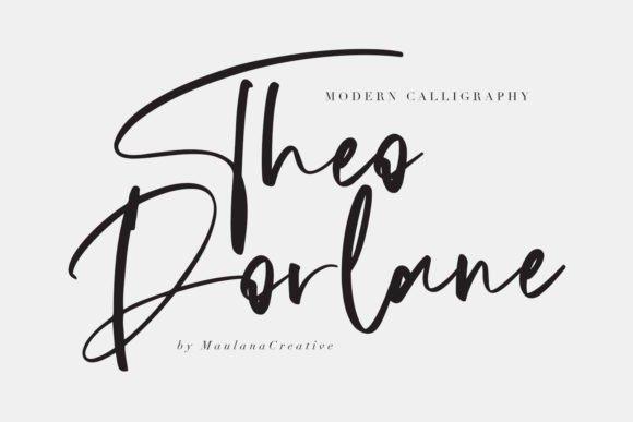 Theodorlane Calligraphy Font