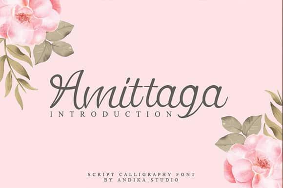 Amittaga Script Font