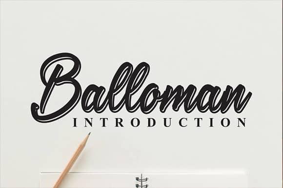 Balloman Script Font
