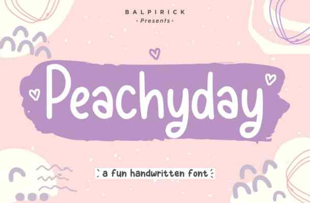Peachyday Fun Handwritten Font