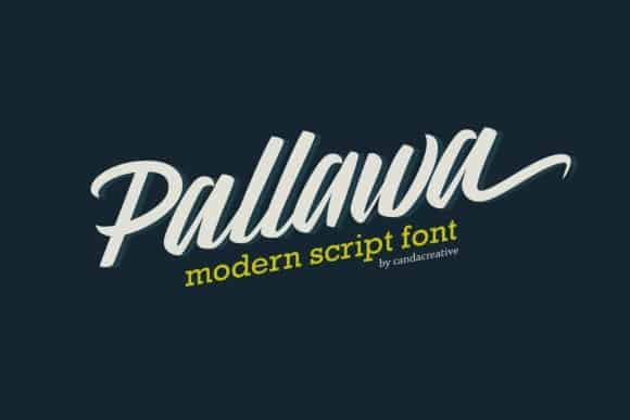 Pallawa Modern Script Font