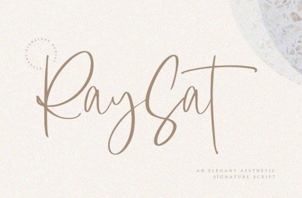 Raysat – Elegant Signature Font