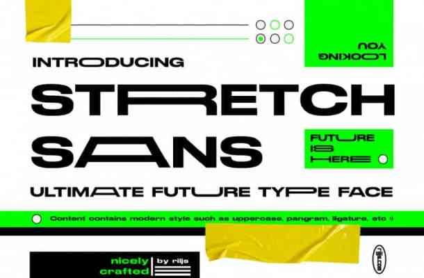 Stretch Sans Font