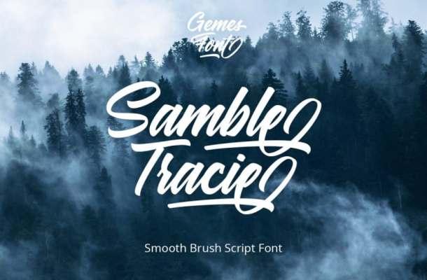 Samble Trice Bold Script Font