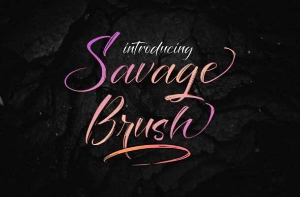 Savage Brush Font