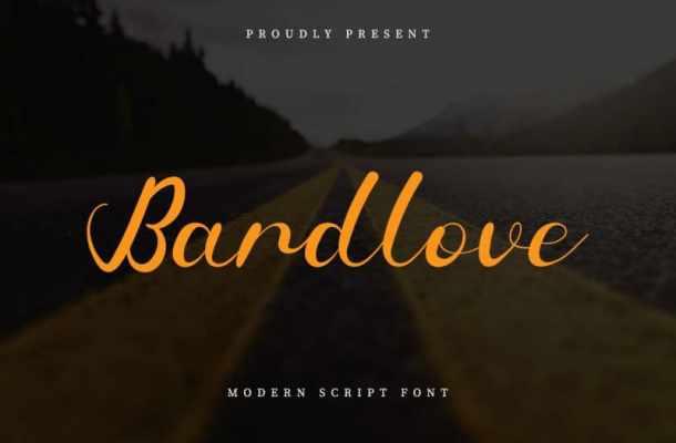 Bardlove Calligraphy Font