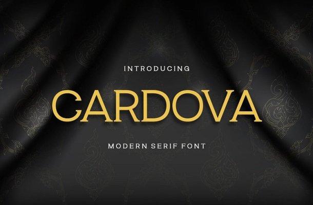 Cardova Modern Serif Font