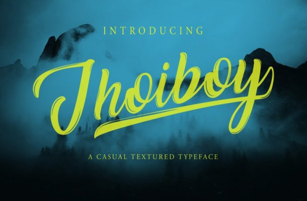 Jhoiboy Script Font