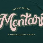 Mentari Bold Script Rerto Font