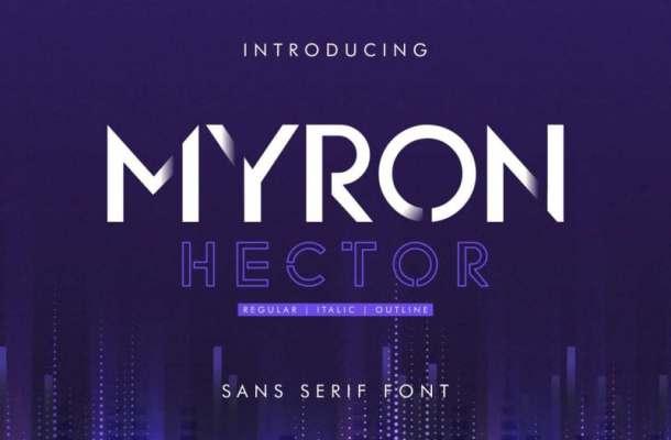 Myron Hector Sans Serif Font