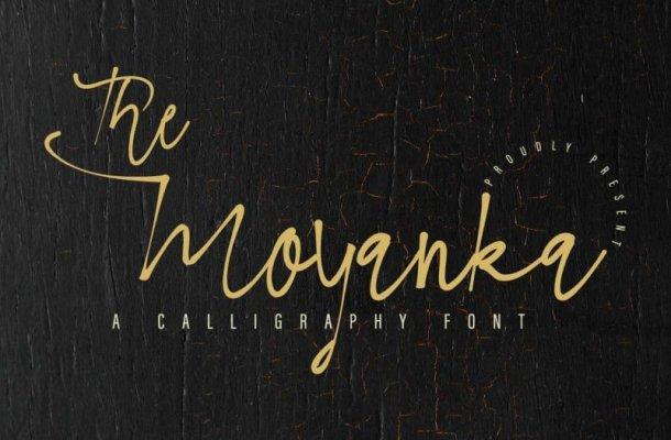 The Moyanka Calligraphy Font