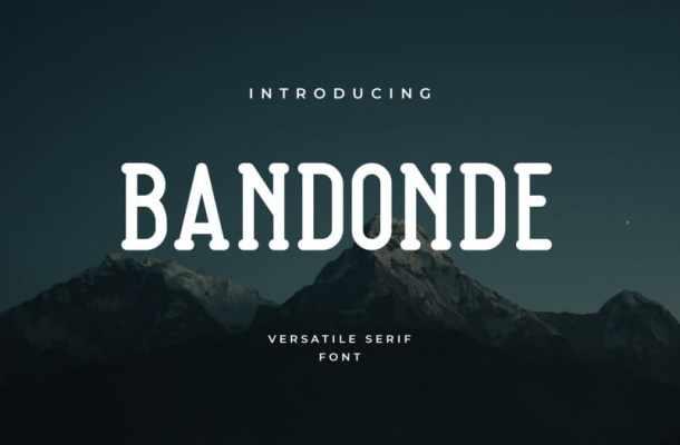 Bandonde Serif Font