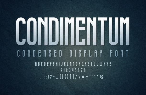 Condimentum Display Font
