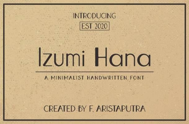 Izumi Hana Sans Serif Font