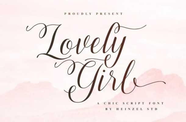 Lovely Girl Calligraphy Font