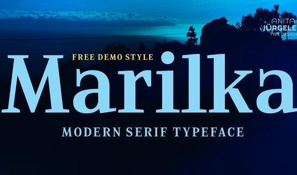 Marilka Serif Font