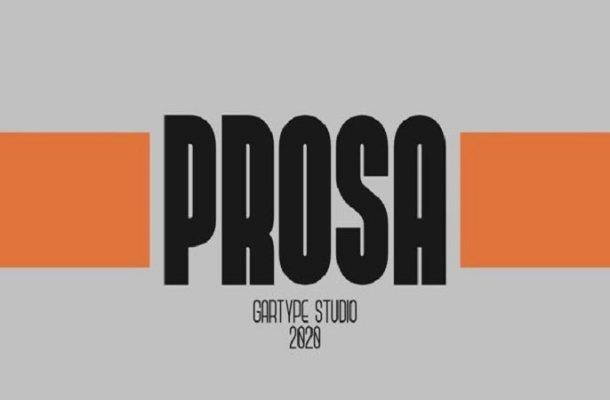Prosa Sans Serif Font