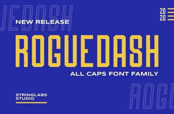 Roguedash Display Font