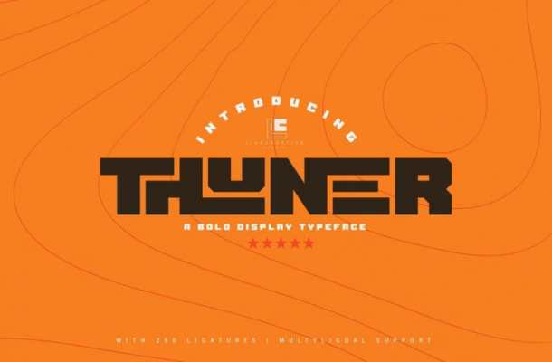 Thuner Display Font
