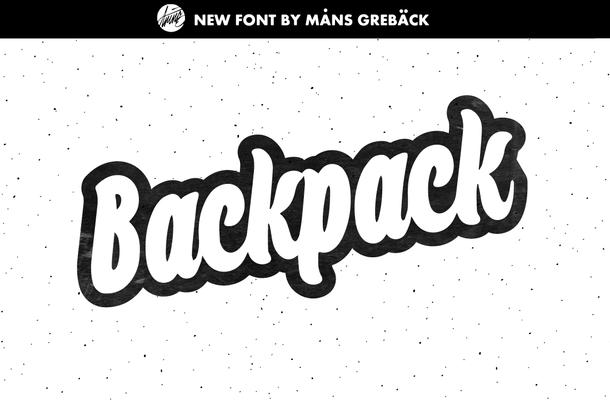 Backpack Script Font Free