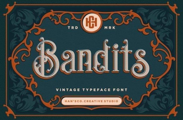 Bandits Blackletter Vintage Typeface