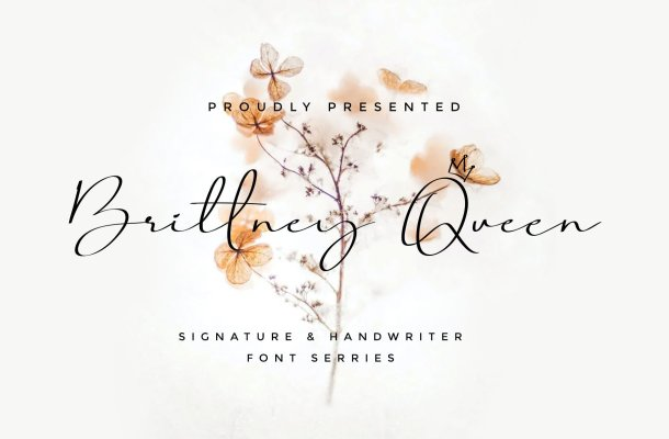 Brittney Queen Handwritten Signature Font
