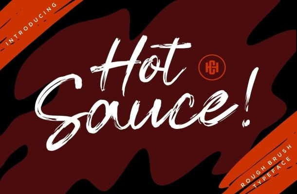 Hot Sauce Dry Brush Script Font