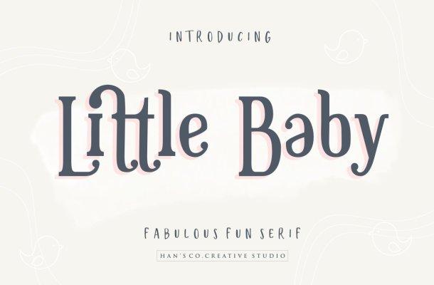 Little Baby Fun Serif Font