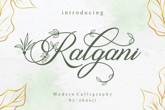 Ralgani Modern Calligraphy Font