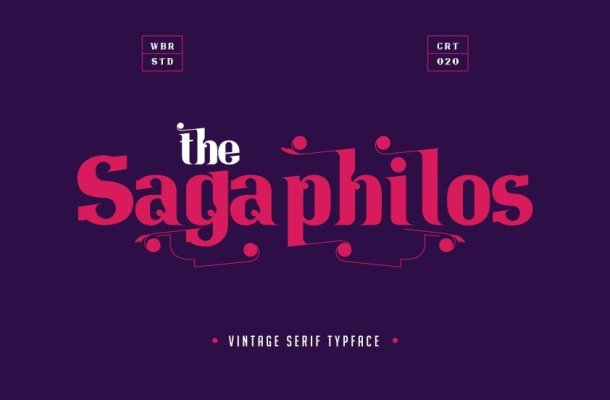 Sagaphilos Vintage Serif Typeface