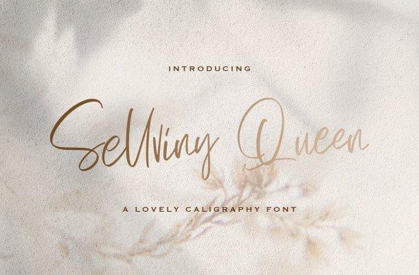 Sellviny Queen Handwritten Script Font
