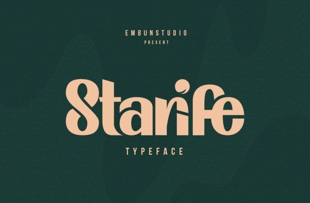 Starife Modern Display Typeface