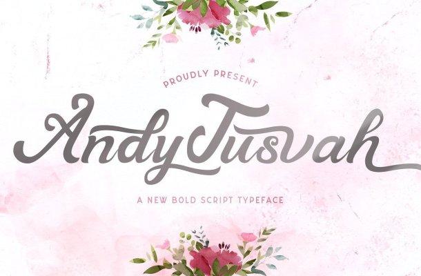 Andy Tusvah Bold Script Font