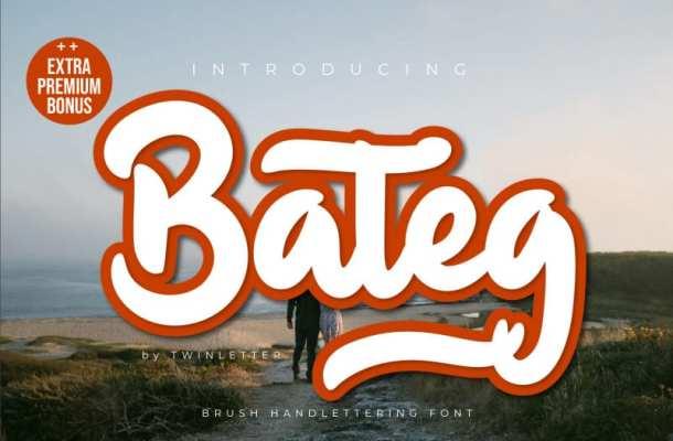 Bateg Script Font Free