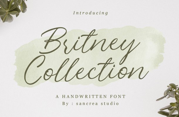 Britney Collection Handwritten Script Font