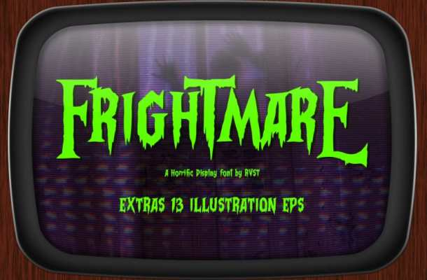 Frightmare Display font Free