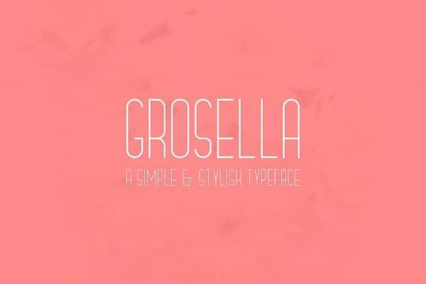 Grosella Sans Serif Font