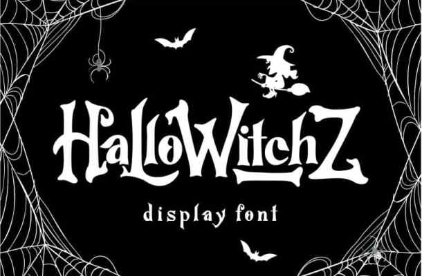 HalloWitchZ Display Font Free