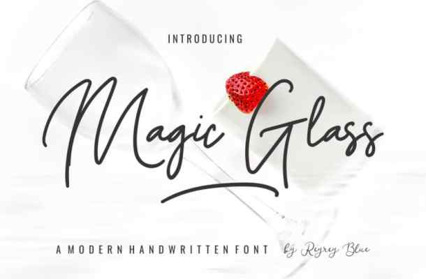 Magic Glass – Handwritten Font